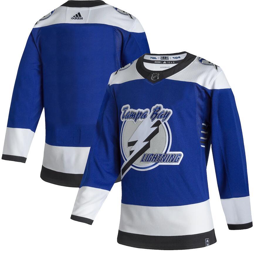 Lightning Blank Blue 2020-21 Reverse Retro Adidas Jersey