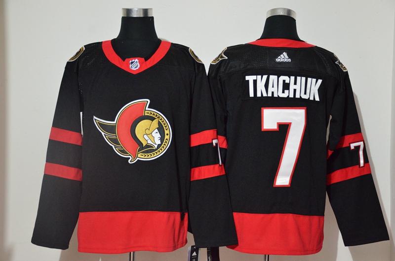 Senators 7 Brady Tkachuk Black 2020-21 Reverse Retro Adidas Jersey