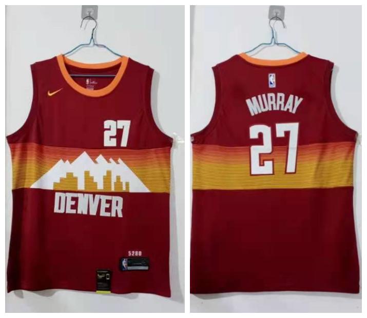 Nuggets 27 Jamal Murray Red 2020-21 City Edition Nike Swingman Jersey