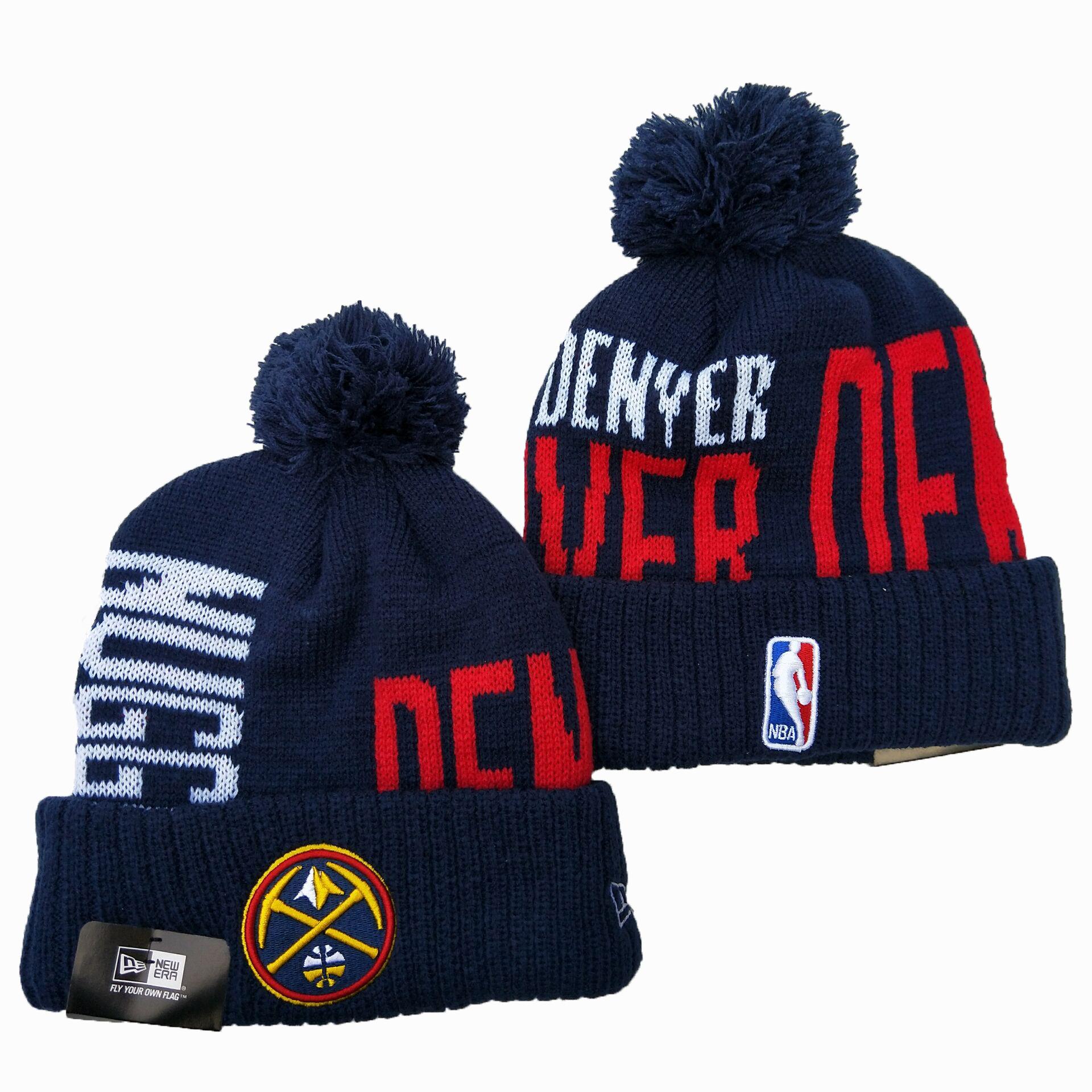 Nuggets Team Logo Navy Pom Knit Hat YD