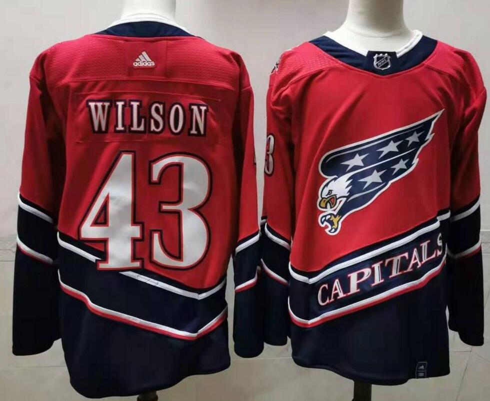 Capitals 43 Tom Wilson Red 2020-21 Reverse Retro Adidas Jersey