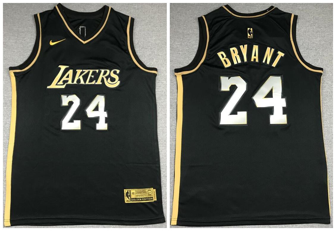 Lakers 24 Kobe Bryant Black Gold 2021 Nike Swingman Jersey