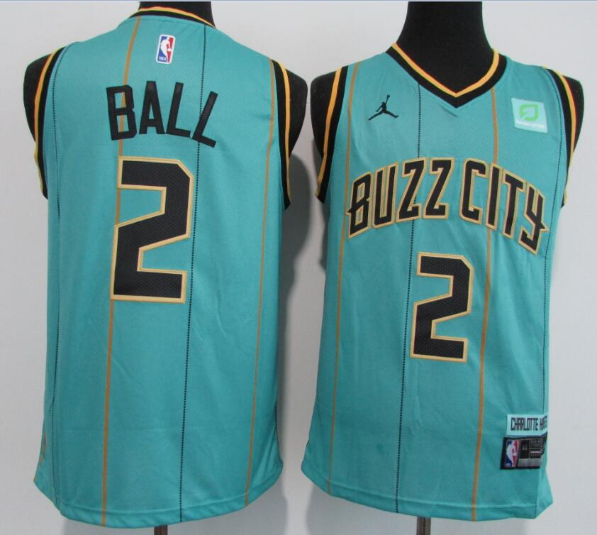 Hornets 2 LaMelo Ball Teal 2020-21 City Edition Swingman Jersey