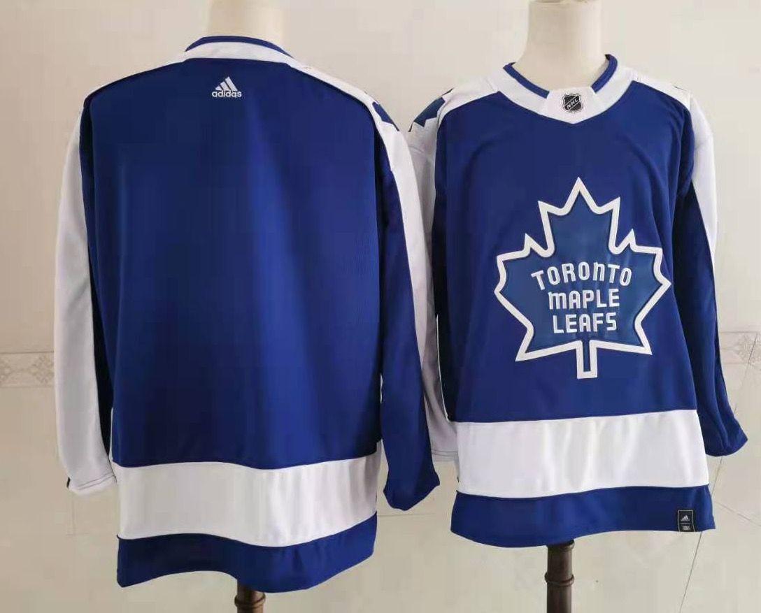 Maple Leafs Blank Blue 2020-21 Reverse Retro Adidas Jersey