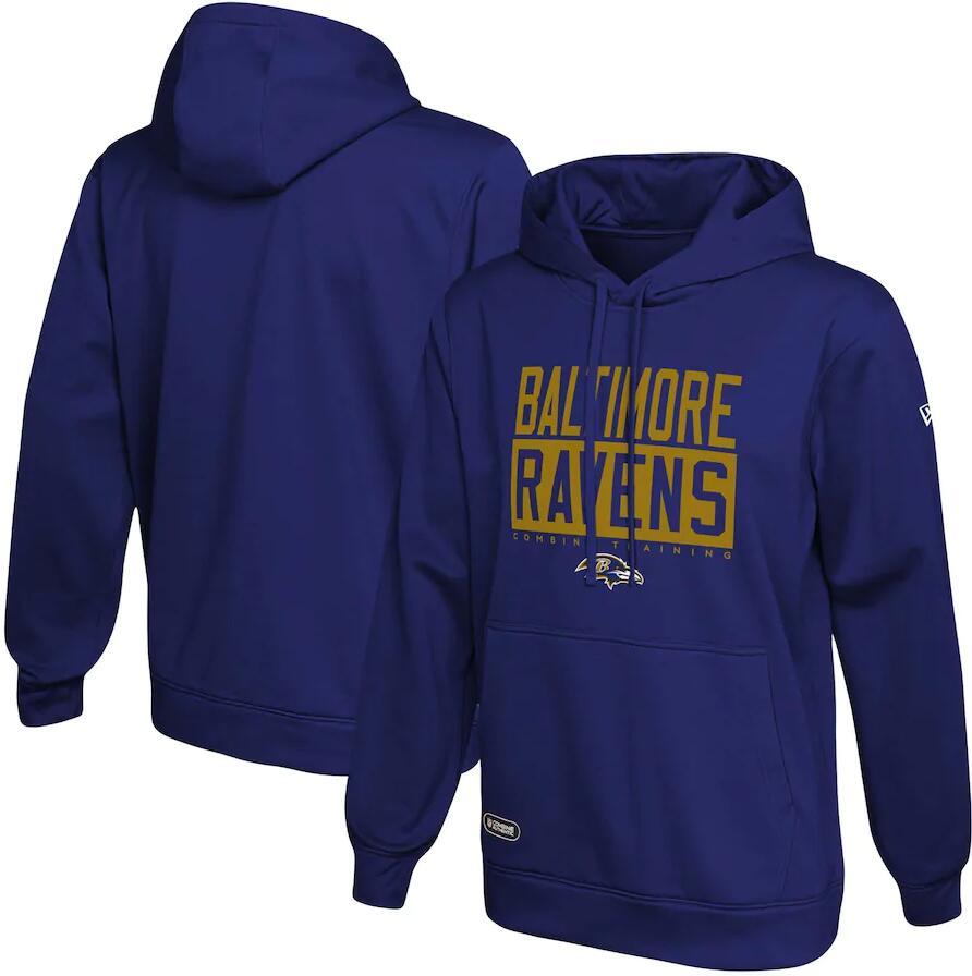 Men's Baltimore Ravens New Era Purple School of Hard Knocks Pullover Hoodie