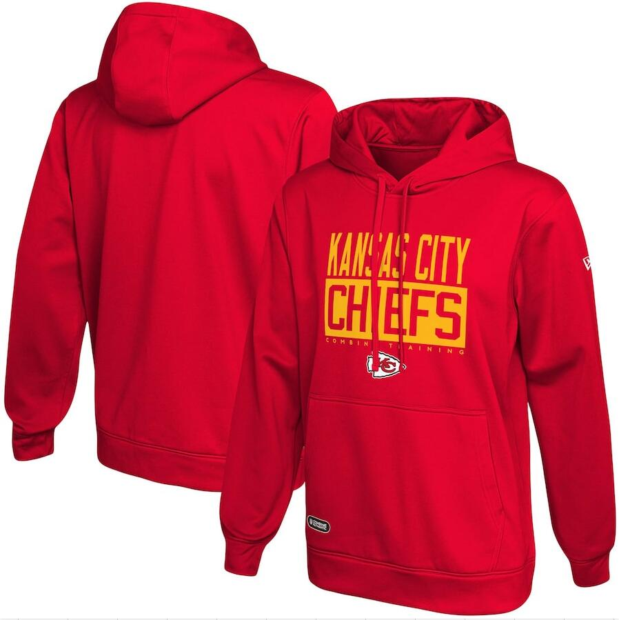 Men's Kansas City Chiefs New Era Red School of Hard Knocks Pullover Hoodie