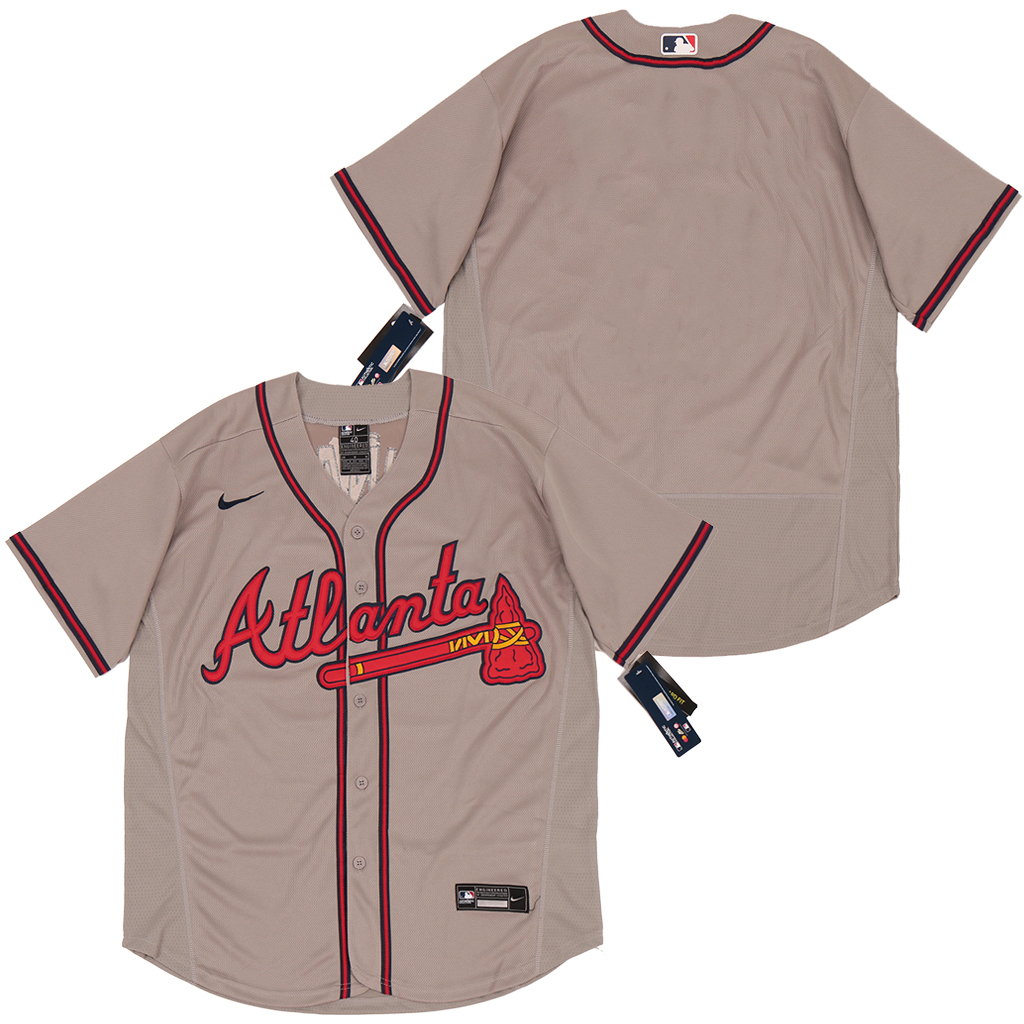 Braves Blank Gray 2020 Nike Cool Base Jersey