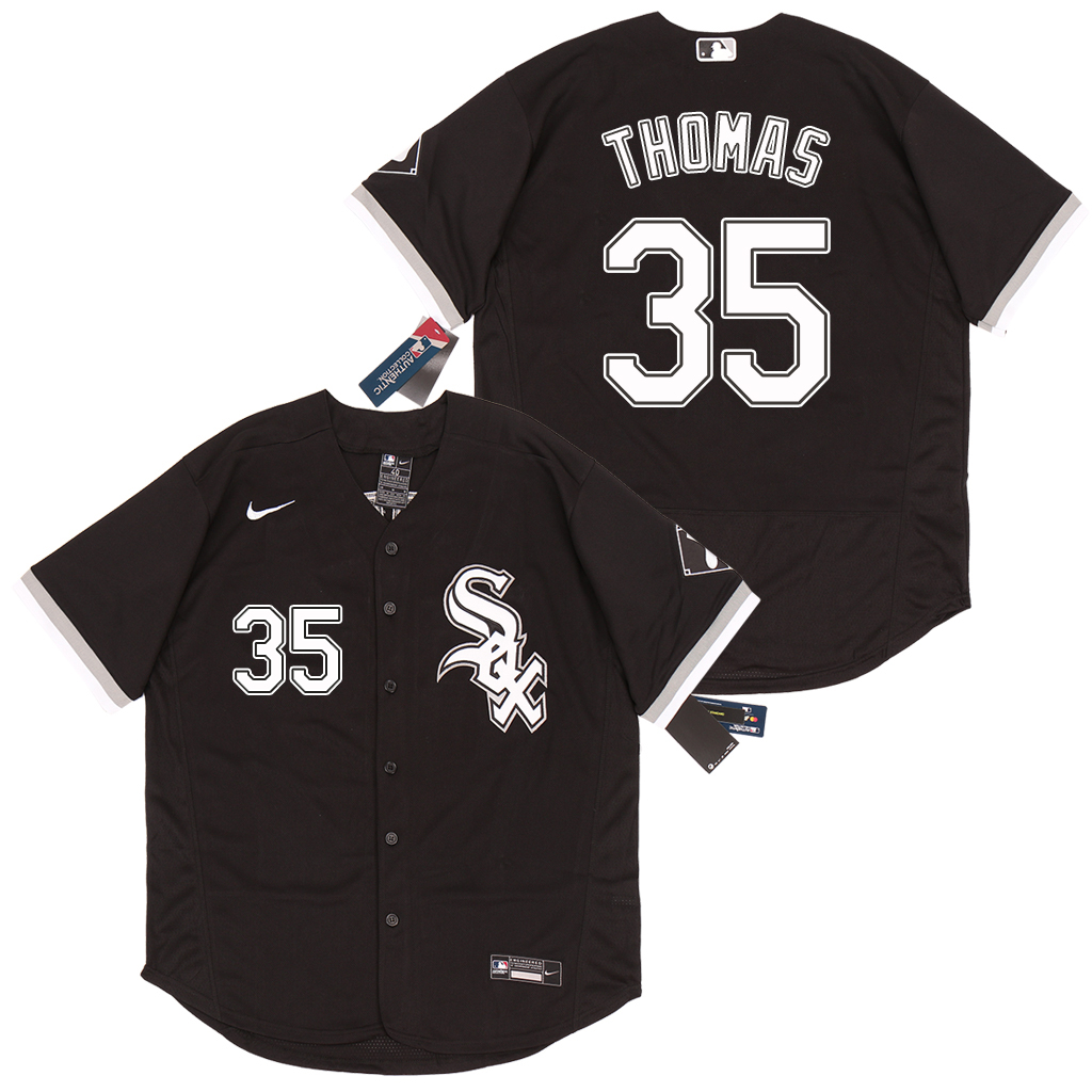 White Sox 35 Frank Thomas Black 2020 Nike Flexbase Jersey