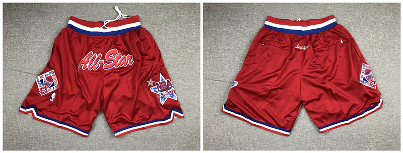 1996 All-Star Red Just Don Pocket Shorts