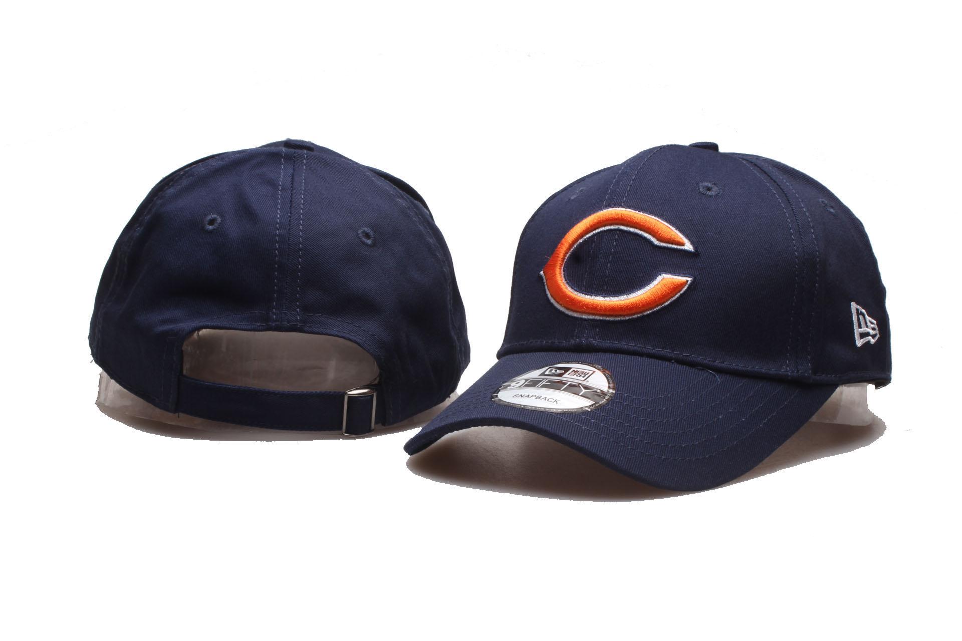 Bears Team Logo Navy Peaked Adjustable Hat YP