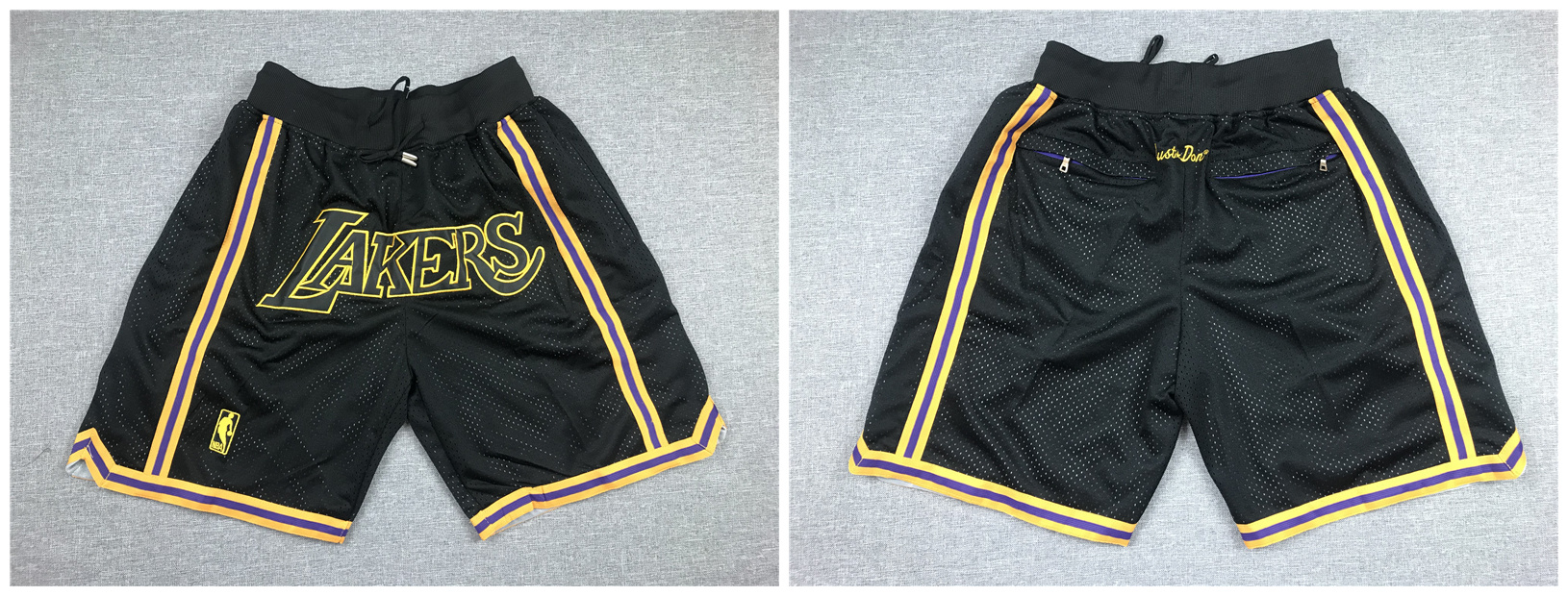 Lakers Black Just Don With Pocket Swingman Shorts