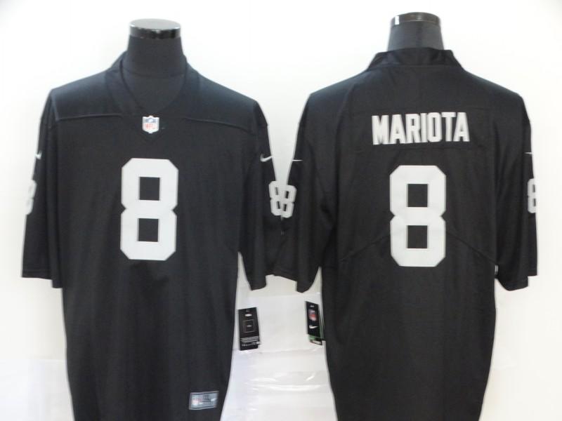 Nike Raiders 8 Marcus Mariota Black Vapor Untouchable Limited Jersey
