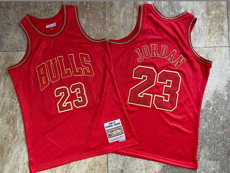 Bulls 23 Michael Jordan Red 1996-97 Hardwood Classics Jersey
