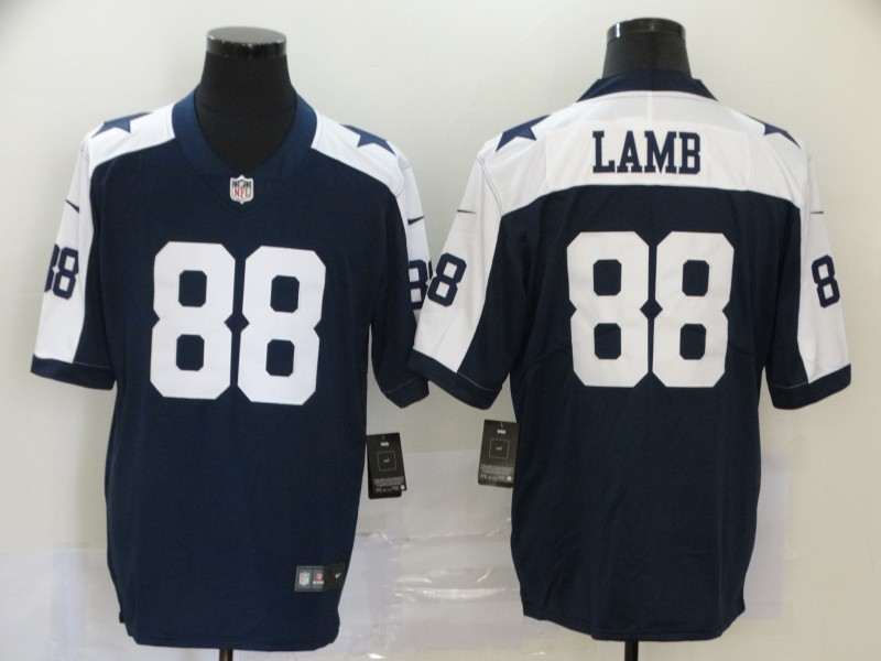 Nike Cowboys 88 Ceedee Lamb Navy 2020 NFL Draft First Round Pick Throwback Vapor Untouchable Limited Jersey