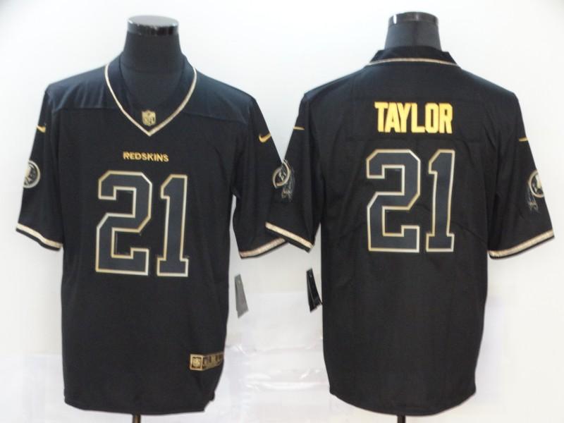 Nike Redskins 21 Sean Taylor Black Gold Vapor Untouchable Limited Jersey