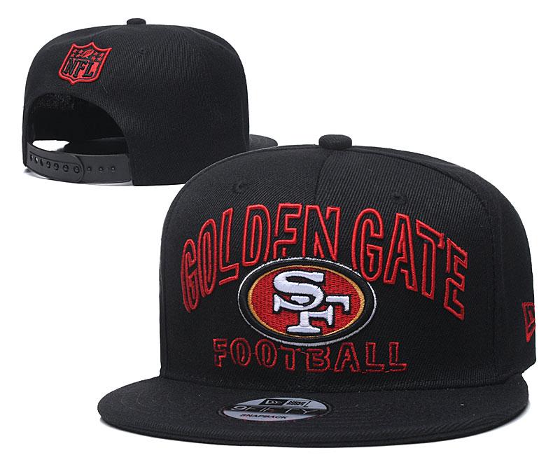 49ers Team Logo Black Adjustable Hat YD