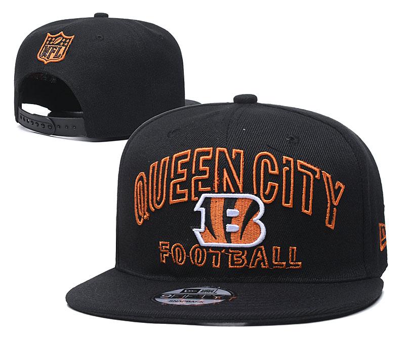 Bengals Team Logo Black Adjustable Hat YD