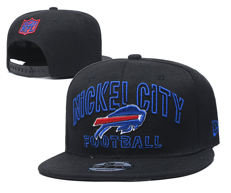 Bills Team Logo Black Adjustable Hat YD