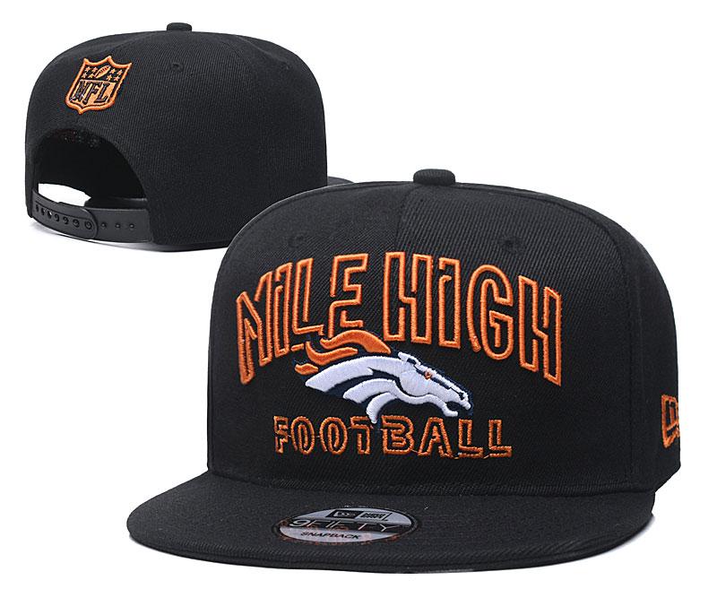 Broncos Team Logo Black Adjustable Hat YD