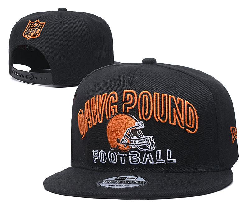Browns Team Logo Black Adjustable Hat YD