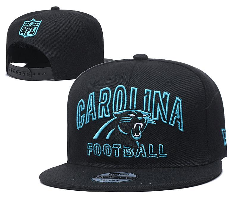 Panthers Team Logo Black Adjustable Hat YD