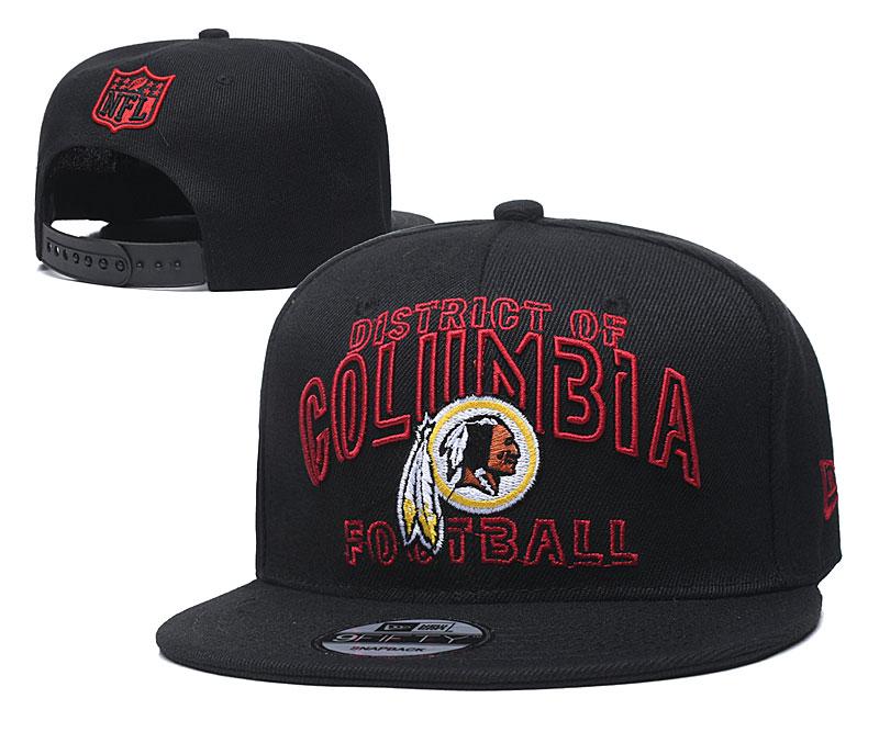Redskins Team Logo Black Adjustable Hat YD