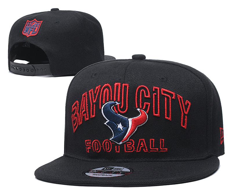 Texans Team Logo Black Adjustable Hat YD