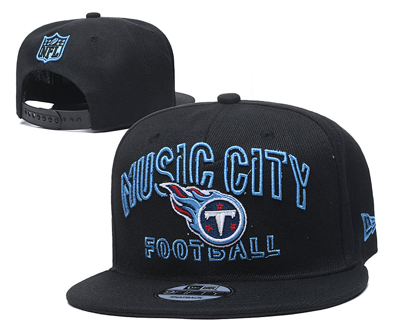 Titans Team Logo Black Adjustable Hat YD