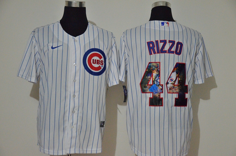 Cubs 44 Anthony Rizzo White Nike Cool Base Player Jersey