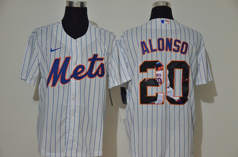Mets 20 Pete Alonso White Nike Cool Base Player Jersey
