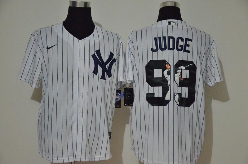 Yankees 99 Aaron Judge White Nike Cool Base Player Jersey