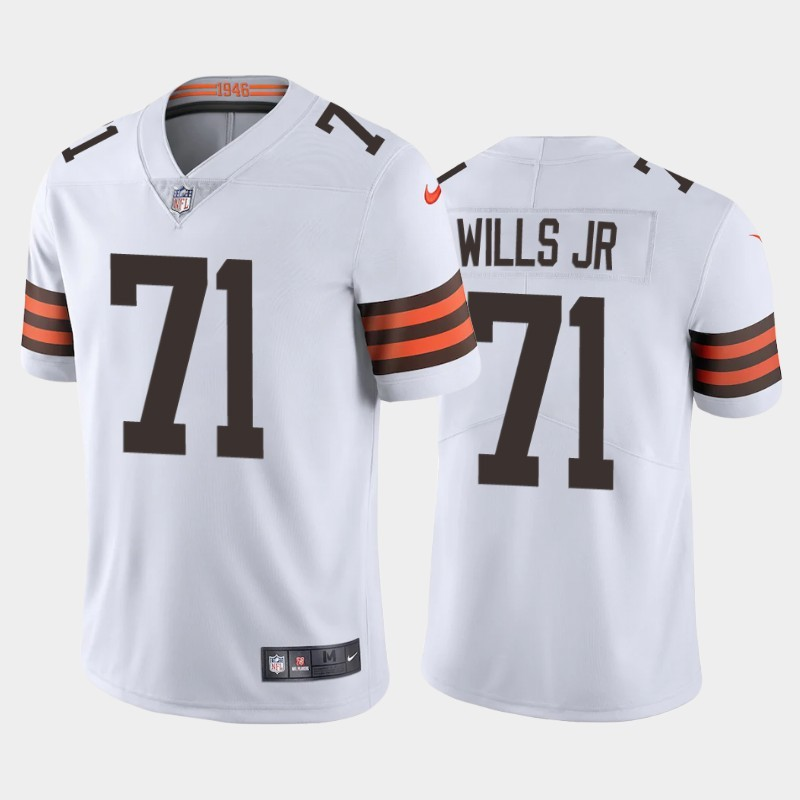 Nike Browns 71 Jedrick Wills Jr. White 2020 NFL Draft First Round Pick Vapor Untouchable Limited Jersey