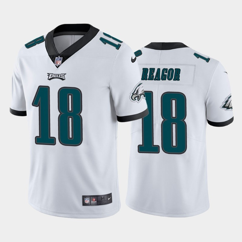 Nike Eagles 18 Jalen Reagor White 2020 NFL Draft First Round Pick Vapor Untouchable Limited Jersey