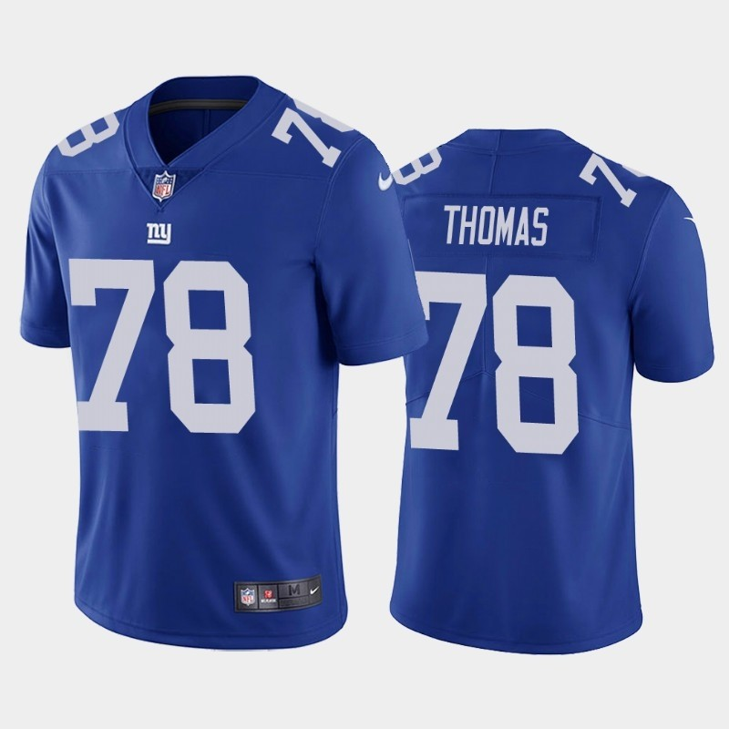 Nike Giants 78 Andrew Thomas Royal 2020 NFL Draft First Round Pick Vapor Untouchable Limited Jersey