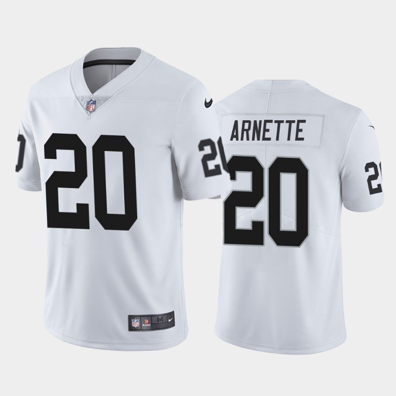 Nike Raiders 20 Damon Arnette White 2020 NFL Draft First Round Pick Vapor Untouchable Limited Jersey