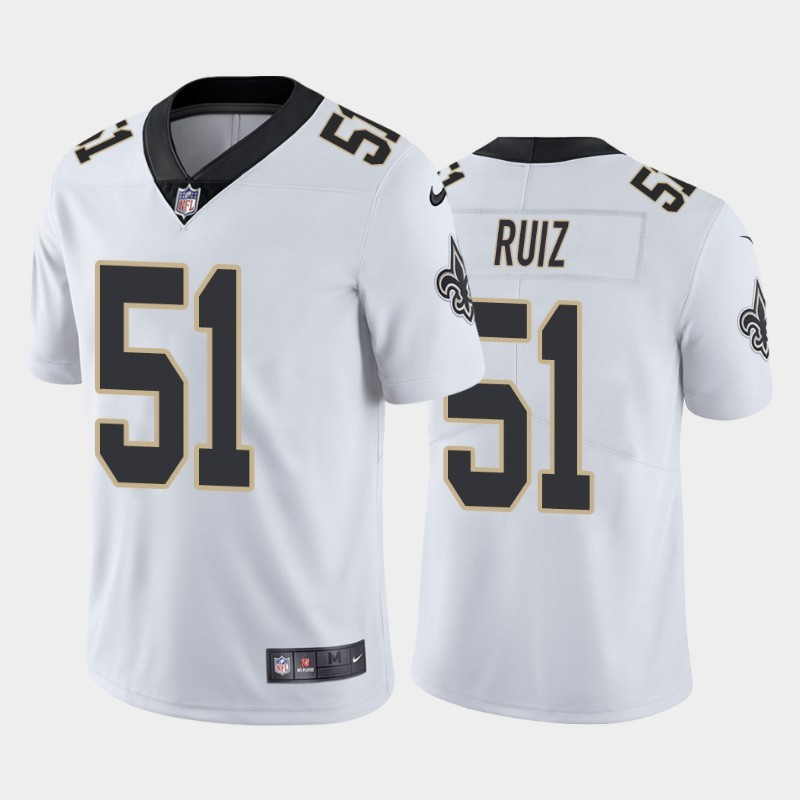 Nike Saints 51 Cesar Ruiz White 2020 NFL Draft First Round Pick Vapor Untouchable Limited Jersey