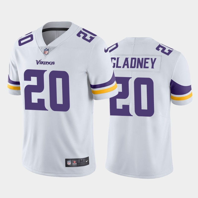 Nike Vikings 20 Jeff Gladney White 2020 NFL Draft First Round Pick Vapor Untouchable Limited Jersey