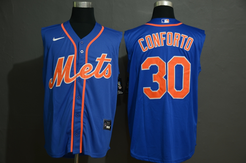 Mets 30 Michael Conforto Royal Nike Cool Base Sleeveless Jersey