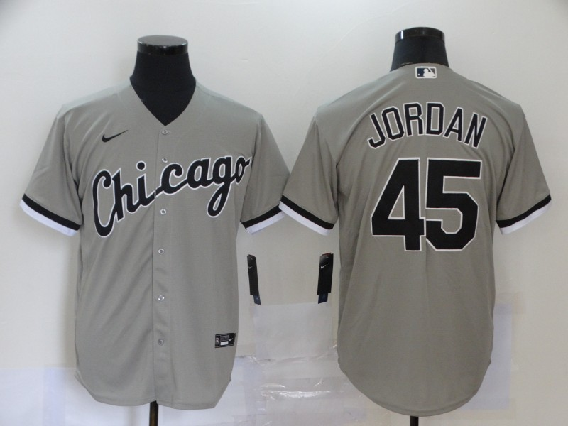 White Sox 45 Michael Jordan Gray 2020 Nike Cool Base Jersey