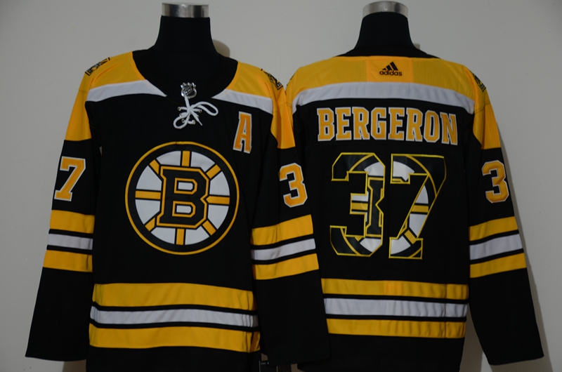 Bruins 37 Patrice Bergeron Black Adidas Fashion Jersey
