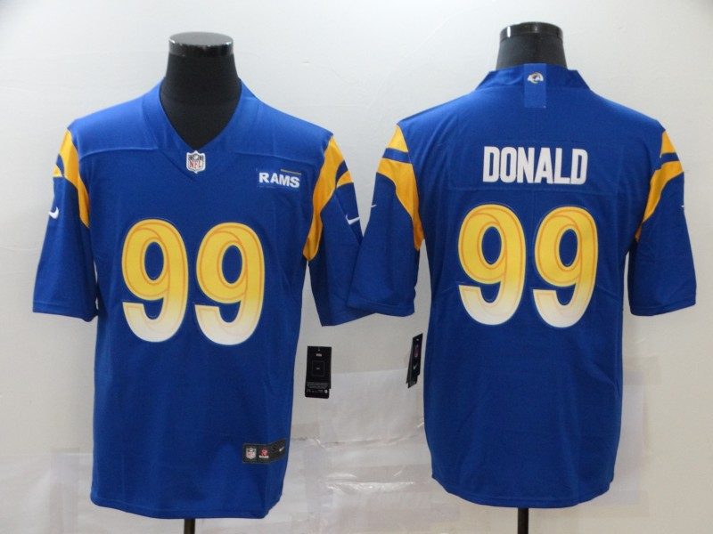 Nike Rams 99 Aaron Donald Royal 2020 New Vapor Untouchable Limited Jersey