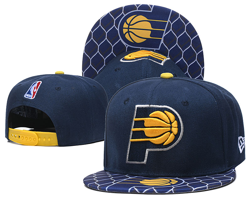 Pacers Team Logo Navy Adjustable Hat TX