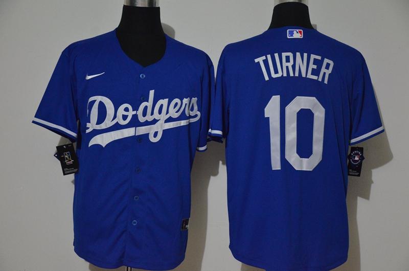 Dodgers 10 Justin Turner Royal 2020 Nike Cool Base Jersey