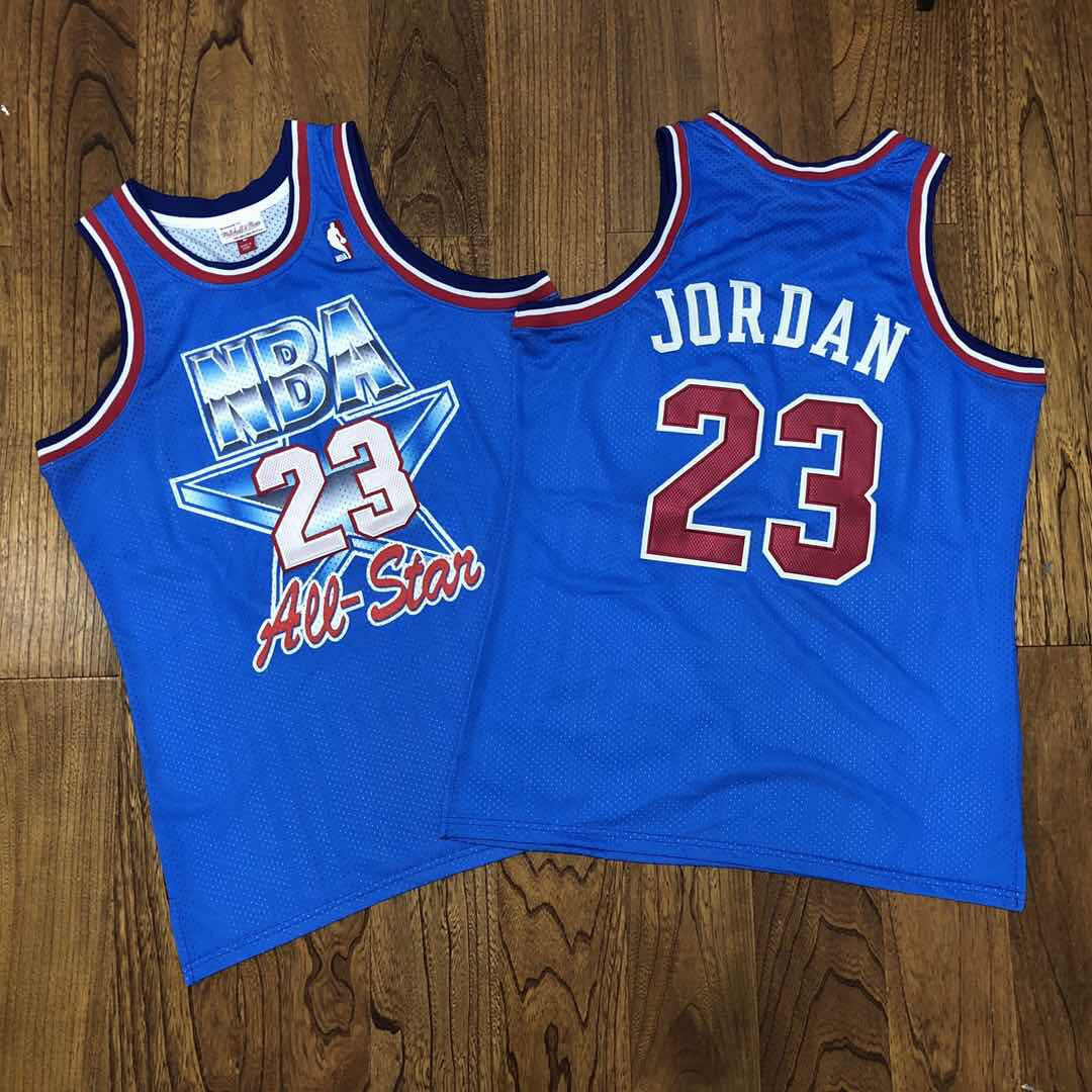 NBA 23 Michael Jordan 1993 All-Star Blue Hardwood Classics Jersey