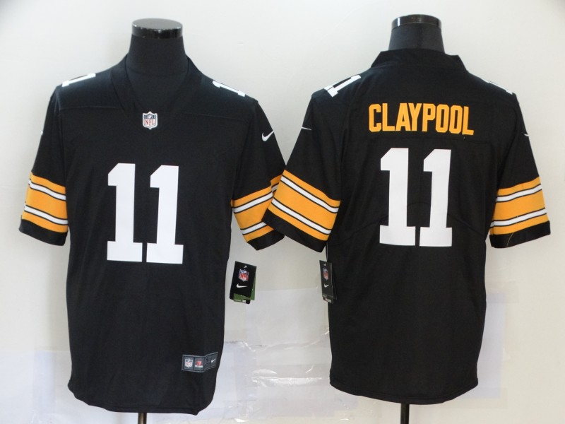 Nike Steelers 11 Chase Claypool Black 2020 NFL Draft First Round Pick Vapor Untouchable Limited Jersey