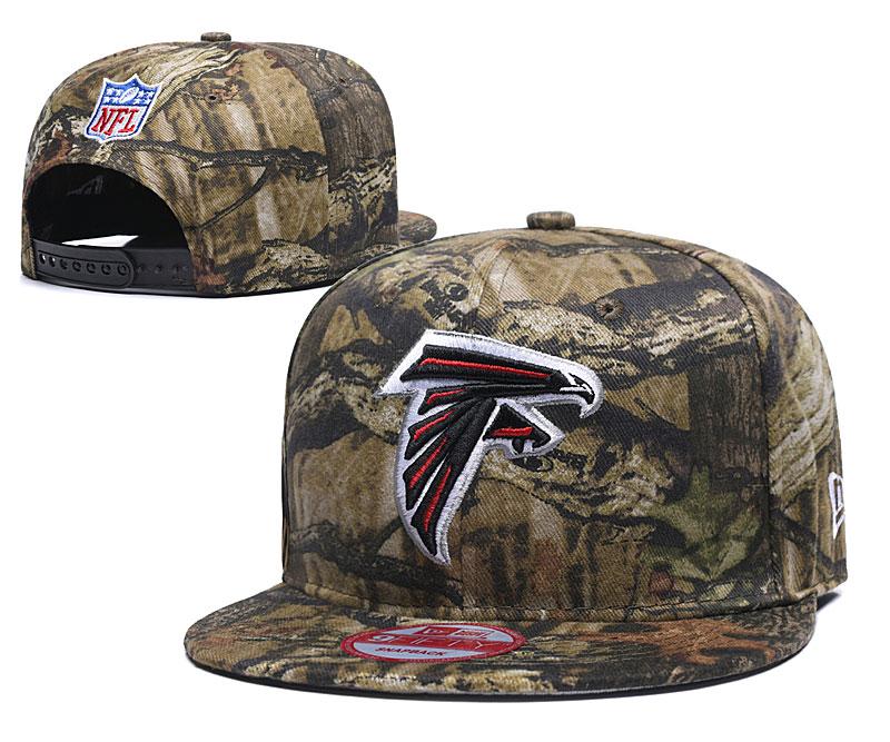 Falcons Team Logo Olive Adjustable Hat LH