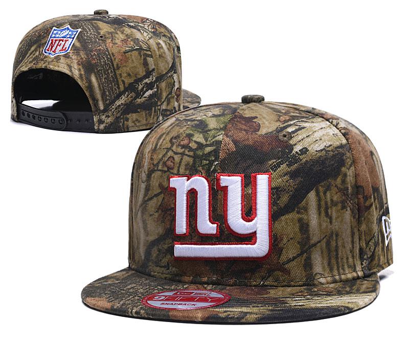 New York Giants Team Logo Olive Adjustable Hat LH