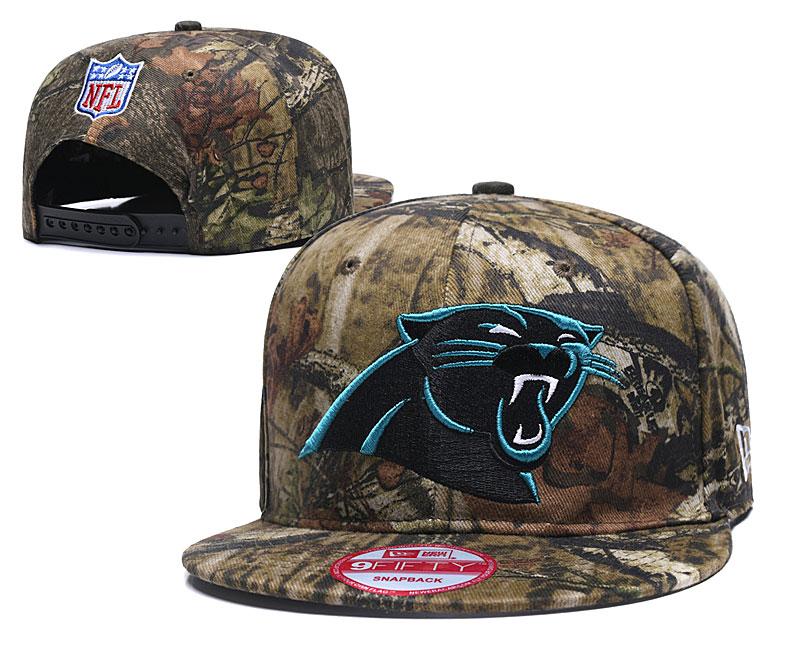 Panthers Team Logo Olive Adjustable Hat LH