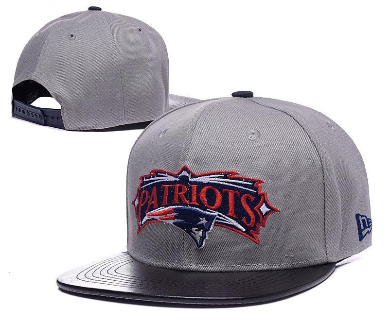 Patriots Team Logo Gray Adjustable Hat LH