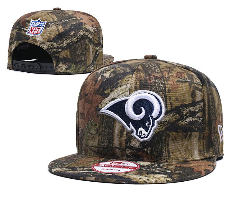 Rams Team Logo Olive Adjustable Hat LH.jpeg